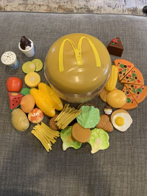 Mcdonalds Play Food Set 28 Pieces 2003 Hamburger French Fries For Sale Online Ebay