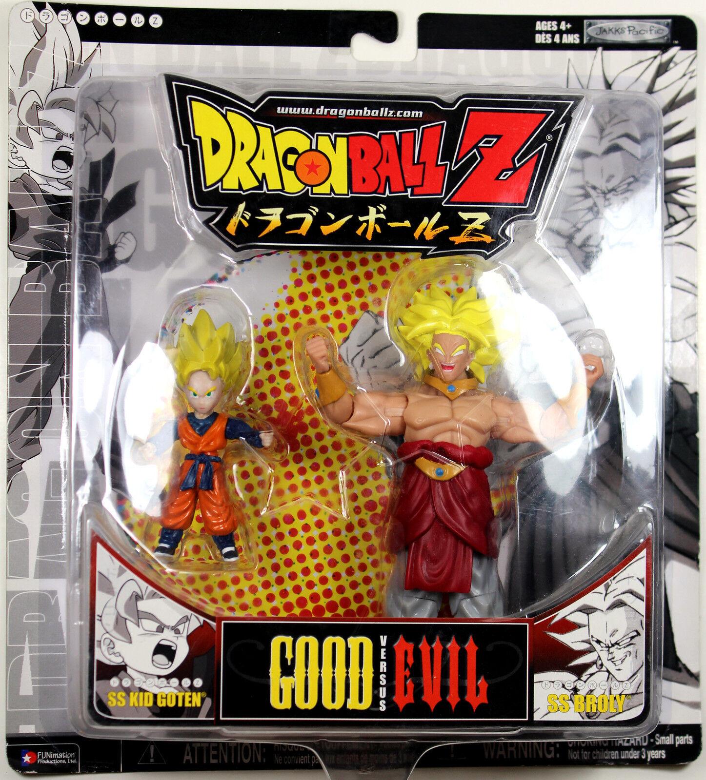Dragonball Z  SS KID GOTEN & SS BROLY (Good vs. Evil) Set  JAKKS DBZ RARE
