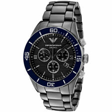 Emporio Armani Black Ceramic Navy Bezel Chronograph Watch AR1429 9c5bbdeb88