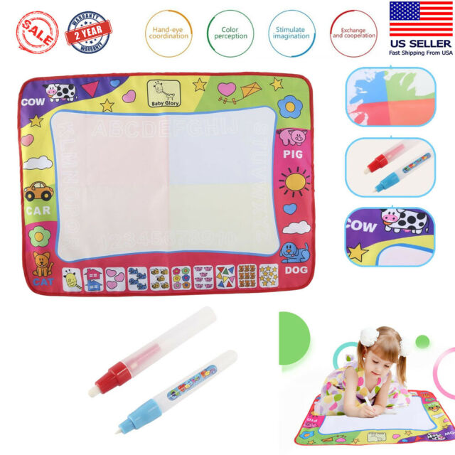 Drawing Water Pen Painting Writing Large Magic Doodle Mat Board Kids Toys