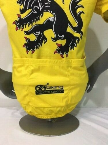 BELGIUM BIKE JERSEY FLANDERS LION RETRO BIKES SHIRT SIZE L BIKE JERSEY FLEMISH