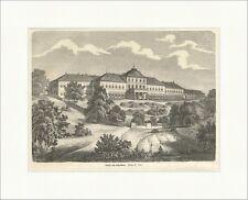Ansicht von Hohenheim Deutsches Reich Schloss Stuttgart Park Holzstich E 5010