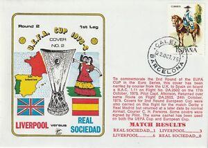 22 de octubre de 1975 Liverpool V R sociedad UEFA Cup amanecer volado escasa cubierta de fútbol