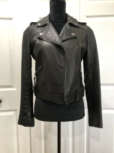 Coach Women's Leather Icon Moto Jacket NWT Black S