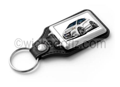 WickedKarz Cartoon Car Peugeot 208 GTi in White Stylish Key Ring