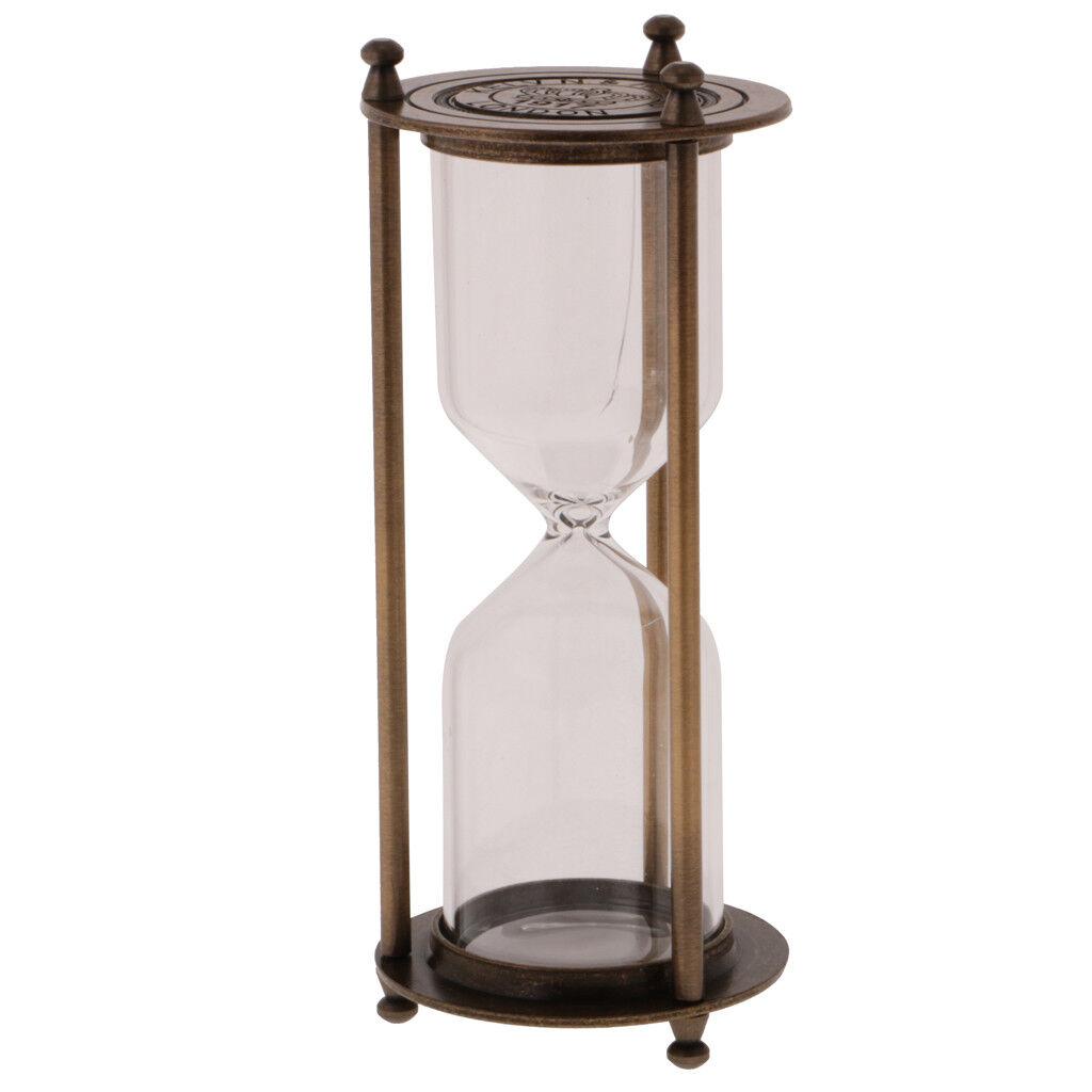 16 cm métal vide Hourglass Sablier Home Office étagère Ornement Decor bronze