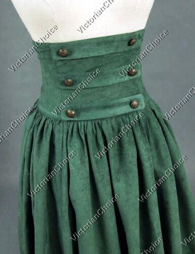 Victorian Edwardian Walking Skirt Theatre Cosplay Steampunk Punk Clothing K187