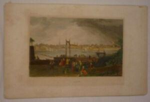 Bonn Original Kolorierter Stahlstich Metzeroth 1850 ~15 x 10 cm