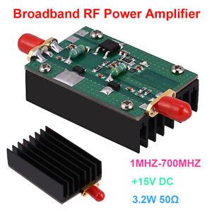 15V-35dB-1MHz-700Mhz-433Mhz-3-2W-HF-VHF-UHF-FM-RF-Power-Amplifier-Amp-Radio-Ham