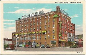 Image Is Loading Will Rogers Hotel In Claremore Ok Postcard