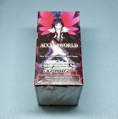 1x English Weiss Schwarz Accel World 20ct Booster Box New Sealed