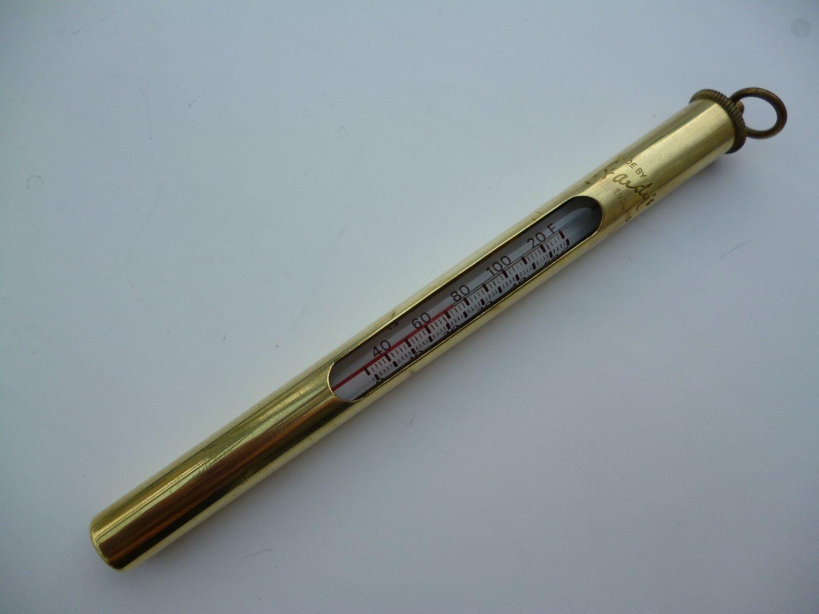 Hardy in ottone SD Termometro-VINTAGE-USATO