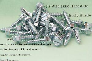 """#14 x 1/"""" Hex Washer Head Self-Drilling Sheet Metal Screws 410 SST 100 pcs"""