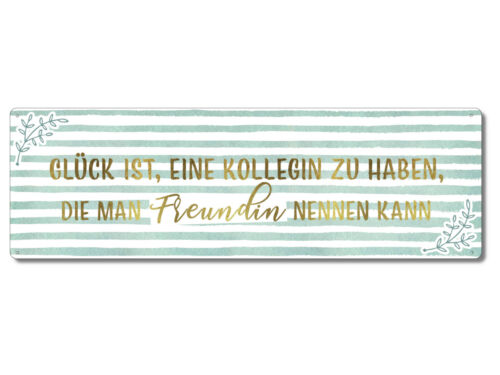 Interluxe Metallschild Schild mit Spruch Glück ist eine Kollegin zu haben