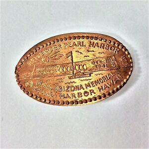 Remember-Pearl-Harbour-Pressed-Penny-Souvenir-USS-Arizona-Hawaii-Memorial