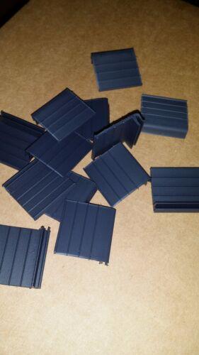 Hard PVC Black Pull Tabs for Window Screens 4 Pack
