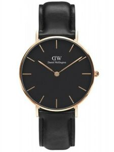 3083407c64d6 Image is loading DANIEL-WELLINGTON-28mm-Rose-Gold-Classic-Petite-Black-