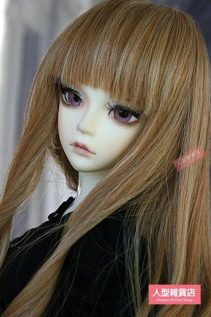BJD Doll Hair Wig 9-10 inch 22-24cm 1/3 SD DZ DOD LUTS brown gradient F114