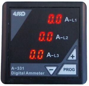 4PRO-A-331-Digital-Ammeter-3-Phase-90-275VAC-50-60Hz