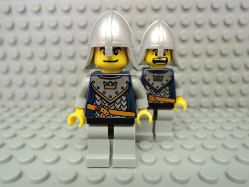 LEGO Figur  Castle Ritter Crown Knight silberner Helm cas341  7092 7097