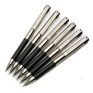 Zebra-F-301-Compact-Stainless-Steel-Ballpoint-Pen-0-7-Black-Barrel-Black-ink