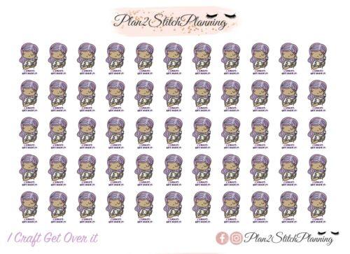 Happy Planner,Icons Erin Condren Stickers I Craft Get Over It Planner Stickers
