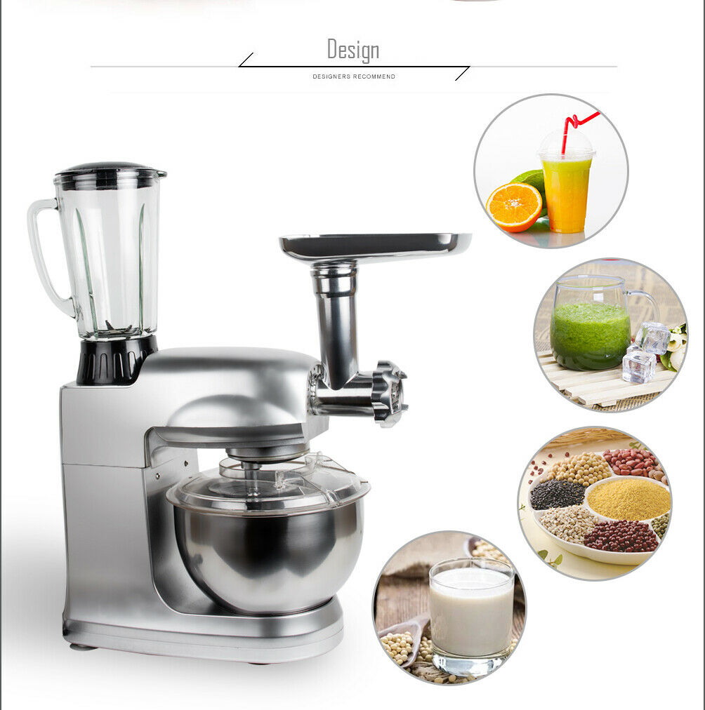 Kitchen Electric Food Stand Mixer Cooking Dough Bread Cake 1000W 5L Countertop