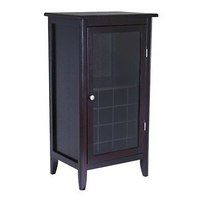 Cabinet with Glass Door Wood/Wine - Winsome