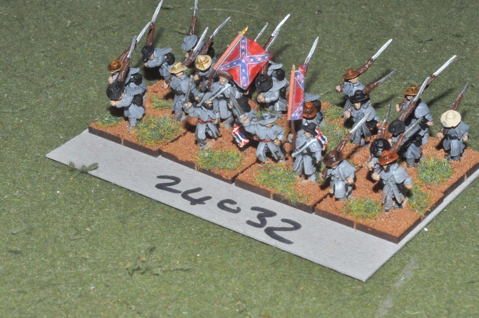 15mm ACW   confederate - regiment 24 figures - inf (24032)