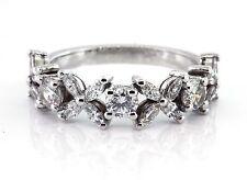 1.24 CT Natural marquise & round cut diamond ring VS/F 14K white gold
