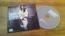 CD Pop Sabrina Starke- Do For Love (1 Song) Promo EMI BLUE NOTE cb