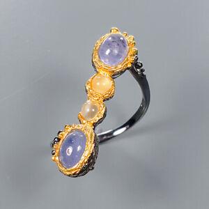 Tanzanite-Ring-Silver-925-Sterling-Vintage-SET-Size-5-75-R134975