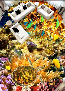 3D Koralle Meer 615 Fototapeten Wandbild Fototapete Tapete Familie DE Lemon