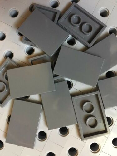 Lego Dark Gray 2x3 Flat Tiles Smooth Finishing Building Floor New Lot Of 12