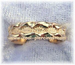 !! Super Sexy Zehenring 12 Karat Gold Filled Scalloped Neu !!