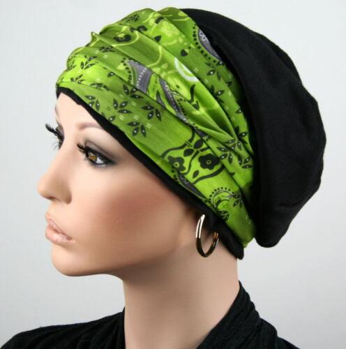 BEANIE MÜTZE BAND Chemo Turban Stirnband Kopftuch Cap Chemomütze Set Jessy NEU