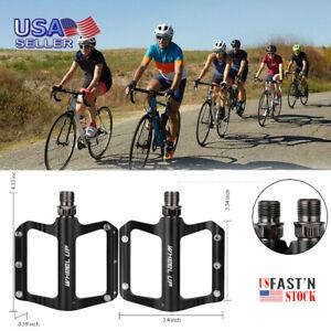 9//16/'/' Road Mountain Bike Platform Pedals Flat Wide Aluminum Sealed Bearing MTB