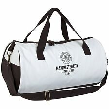 Official MANCHESTER CITY Retro Holdall Bag Football Duffle Mens Gym Sports wo