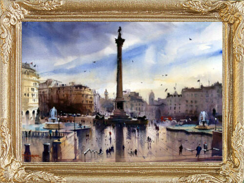 FAST DELIVERY MADE IN USA LONDON TRAFALGAR SQUARE Miniature Dollhouse Picture
