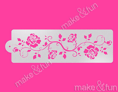 Pochoir Decoupage stencil,Schablonen 8pc Designer logo Stencil Cookie Stencil