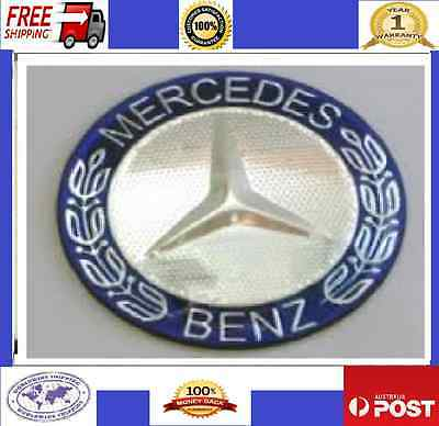Mercedes Benz Blue Logo Steering Wheel Emblem Badge Decals AMG 52mm x4