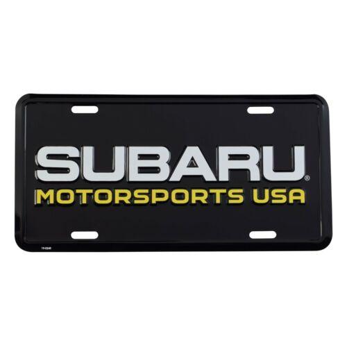 SUBARU MOTORSPORTS USA OFFICIAL LICENSE PLATE WRX STI JDM IMPREZA GENUINE RALLY