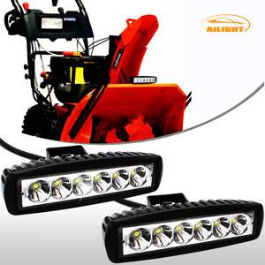 6-7INCH-36W-SNOW-BLOWER-THROWER-UNIVERSAL-LED-WORK-LIGHT-BAR-SPOT-FOG-LAMPS