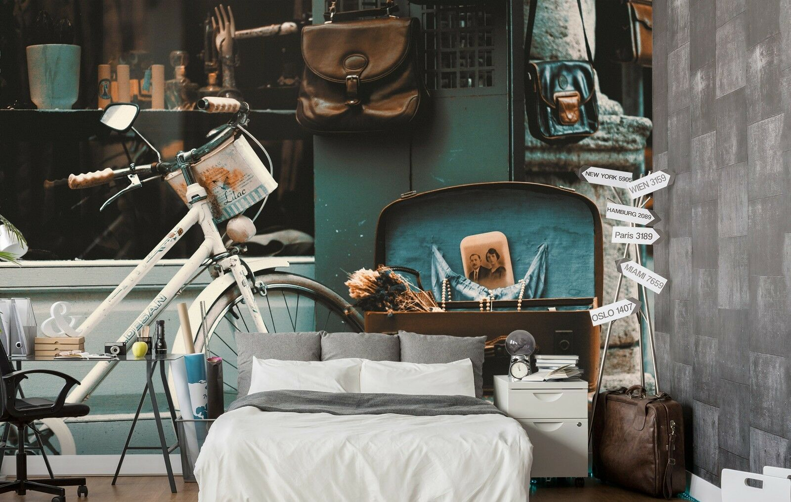 3D Old Bike 7190 Wall Paper Print Wall Decal Deco Indoor Wall Murals US Summer