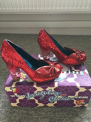 Irregular choice No Place Like Home Red Size 4