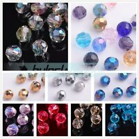 30pcs 8mm Round Faceted Glass Crystal Jewelry DIY Findings Loose Spacer Beads