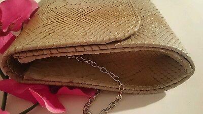 Damentasche Clutch Tasche Abendtasche Damen Handtasche Braun Neu 30x15cm W813