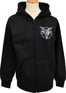 Baphomet Pentagram Ocult Zipper Satan Hoodie Satanic Church Hoodie Embroidered BnTr6vB