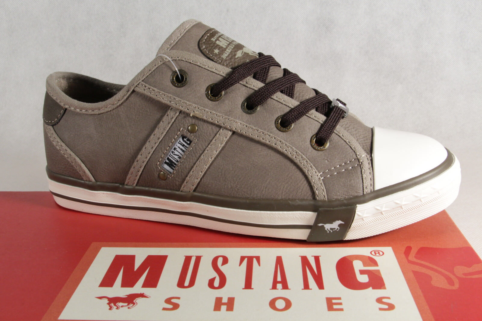 Mustang Lace up Lace up Trainers Low shoes Grey Earth 1209 New