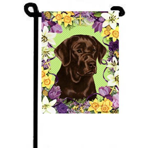 Labrador Retriever Easter Blossoms Garden Flag